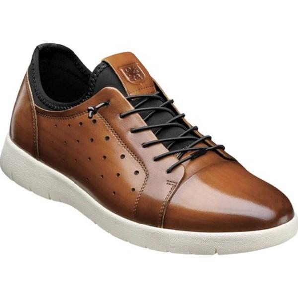 ステイシーアダムス メンズ ドレスシューズ シューズ Halden Cap Toe Sneaker Cognac Burnished Smooth Leather