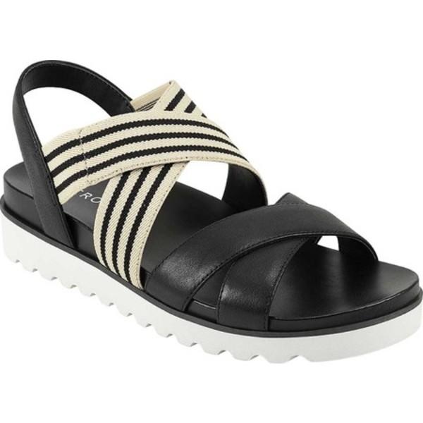 エアロソールズ レディース サンダル シューズ Kings Park Platform Strappy Sandal Black/Cream/Black Crust Leather/Elastic