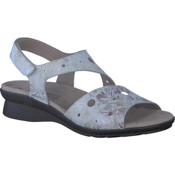 メフィスト レディース サンダル シューズ Phiby Perforated Slingback Sandal Light Grey Florus Leather