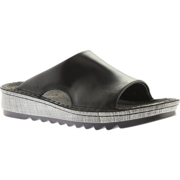 ナオト レディース サンダル シューズ Ardisia Slide Sandal Black Madras Leather