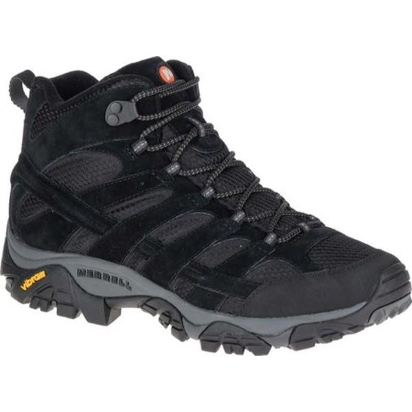 メレル メンズ ブーツ&レインブーツ シューズ Moab 2 Vent Mid Hiking Shoe Black Night