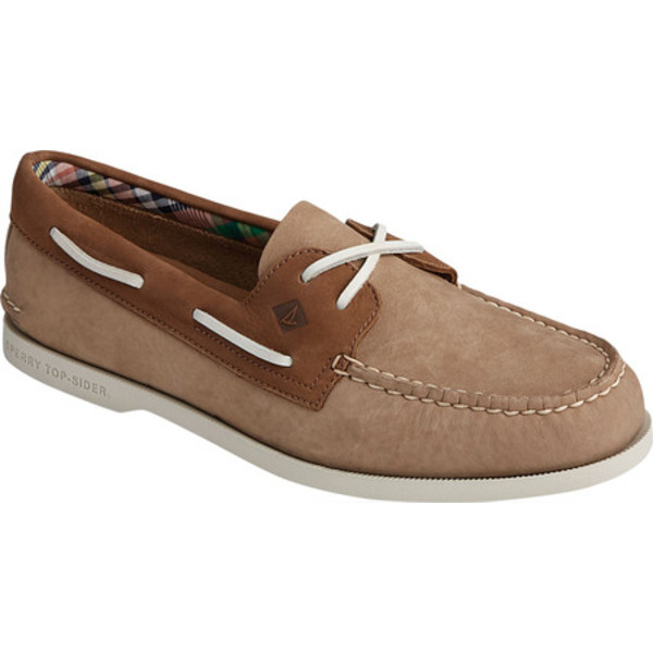トップサイダー メンズ デッキシューズ シューズ Authentic Original Plushwave 2-Eye Washable Shoe Tan/Brown Washable Nubuck