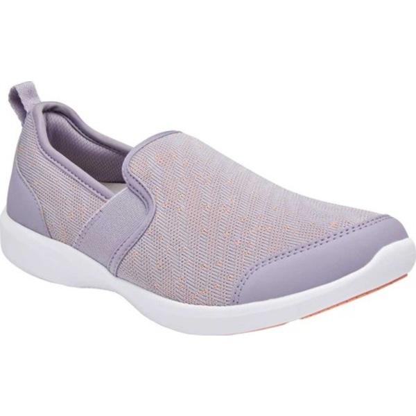 バイオニック レディース スニーカー シューズ Roza Slip On Sneaker Lavender Textile