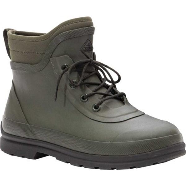 ムックブーツ メンズ ブーツ&レインブーツ シューズ Muck Originals Modern Lace Up Waterproof Boot Moss