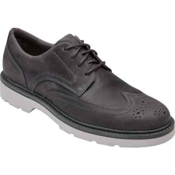 ロックポート メンズ ドレスシューズ シューズ Charlee Wingtip Oxford Grey Leather