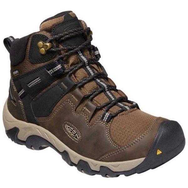 キーン メンズ ブーツ&レインブーツ シューズ Steens Mid Waterproof Hiking Boot Canteen/Black