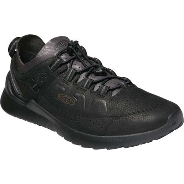 キーン メンズ スニーカー シューズ Highland Trail Shoe Black/Magnet