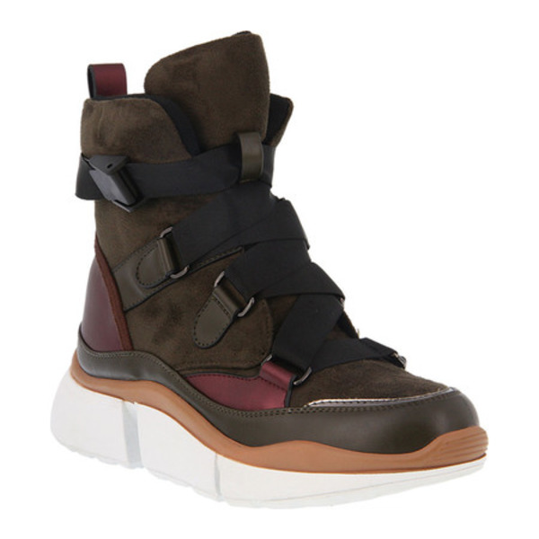 アズーラ レディース スニーカー シューズ Kenny Sneaker Boot Olive Multi Microsuede/Nylon