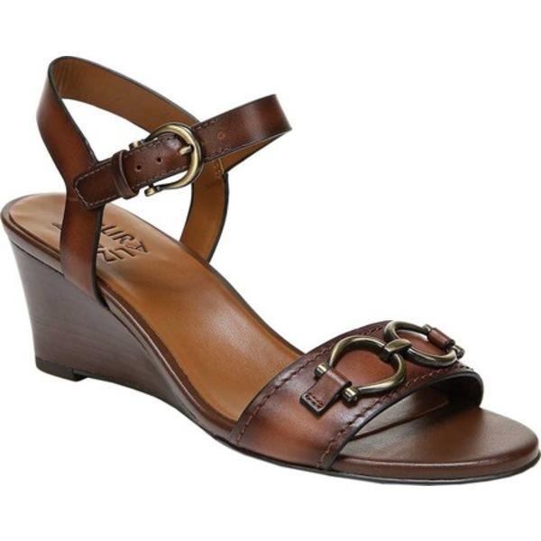 ナチュライザー レディース サンダル シューズ Sonia Wedge Sandal Lodge Brown Leather