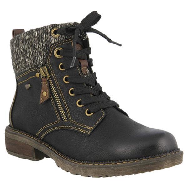 スプリングステップ レディース ブーツ&レインブーツ シューズ Khazera Ankle Boot Black Textile/Vegan Synthetic