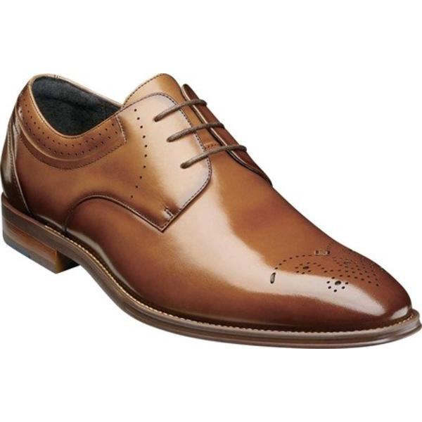 ステイシーアダムス メンズ ドレスシューズ シューズ Batlin Perf Toe Oxford Cognac Leather