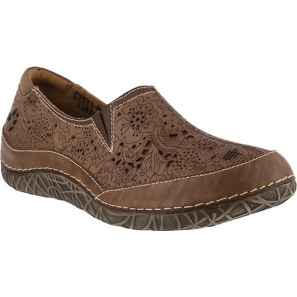 スプリングステップ レディース スリッポン・ローファー シューズ Libora Slip-On Taupe Leather