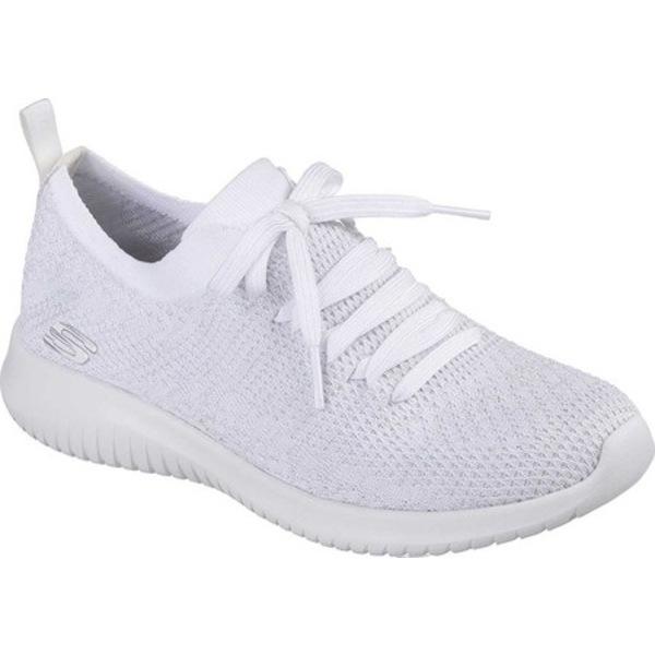 スケッチャーズ レディース スニーカー シューズ Ultra Flex Sneaker White/Silver