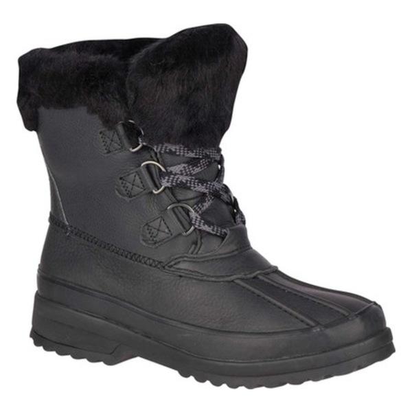 トップサイダー レディース ブーツ&レインブーツ シューズ Maritime Winter Boot Black Leather