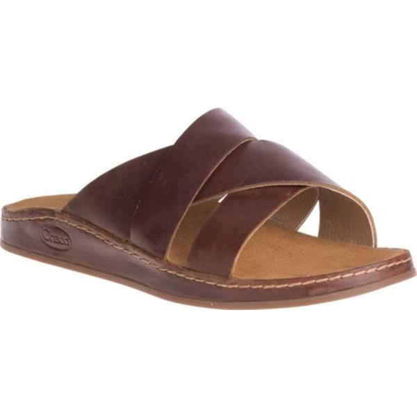 チャコ レディース サンダル シューズ Wayfarer Slide Toffee Full Grain Leather