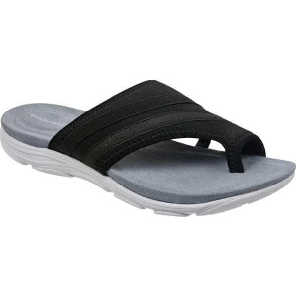 イージースピリット レディース サンダル シューズ Lola2 Toe Loop Sandal Black Fabric