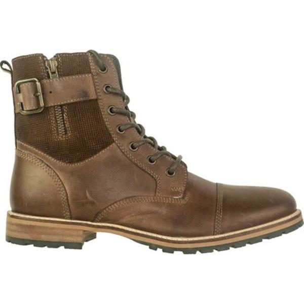 クレボ メンズ ブーツ&レインブーツ シューズ Silas Cap Toe Boot Brown Leather/Suede