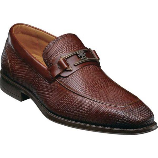 ステイシーアダムス メンズ ドレスシューズ シューズ Pomeroy Moc Toe Bit Loafer Cognac Leather