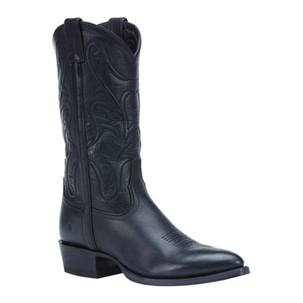 フライ メンズ ブーツ&レインブーツ シューズ Bruce Pull On Cowboy Boot Black Washed Oiled Vintage Leather