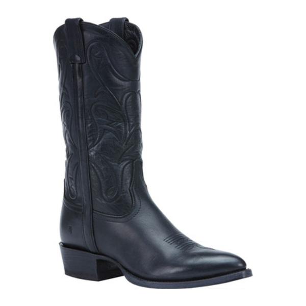 フライ メンズ ブーツ&レインブーツ シューズ Bruce Pull On Cowboy Boot Black Washed Oiled Vintage Leather