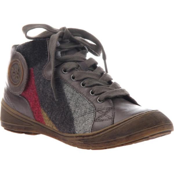 オーティービーティー レディース スニーカー シューズ Providence Sneaker Grey Tin Leather/Fabric