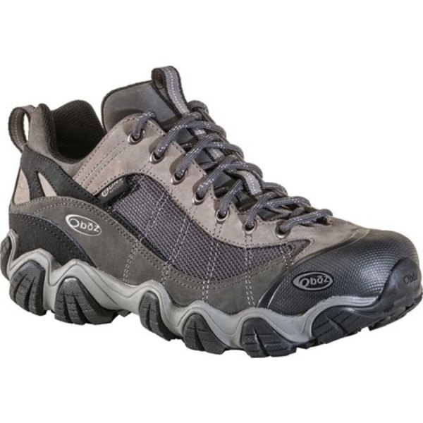 オボズ メンズ ブーツ&レインブーツ シューズ Firebrand II BDry Hiking Shoe Gray Waterproof Nubuck Leather