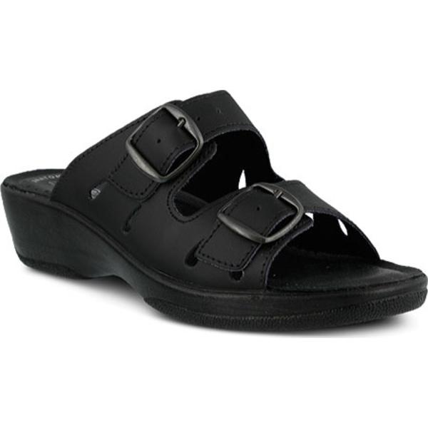 フレクサス レディース スニーカー シューズ Decca Black Leather