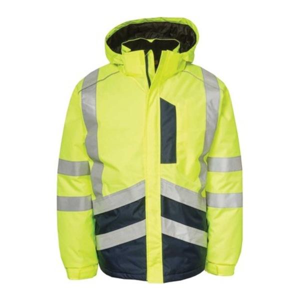 キャタピラー メンズ ジャケット&ブルゾン アウター Hi-Vis Waterproof Jacket Hi-Vis Yellow/Navy