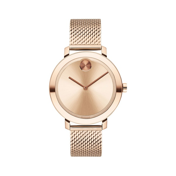 モバド レディース 腕時計 アクセサリー Bold Rose Goldtone Stainless Steel Mesh Bracelet Watch Rose Gold