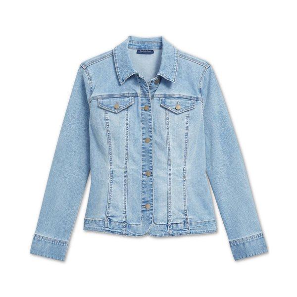 店内全品対象 チャータークラブ レディース アウター 贈物 ジャケット ブルゾン Niagara Wash 全商品無料サイズ交換 Button-Up Denim Jacket