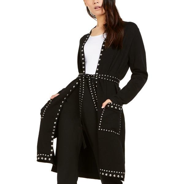Concepts Black アウター International ニット&セーター レディース アイエヌシーインターナショナルコンセプト I.N.C. Sweater, Studded Completer Deep Cardigan Petite