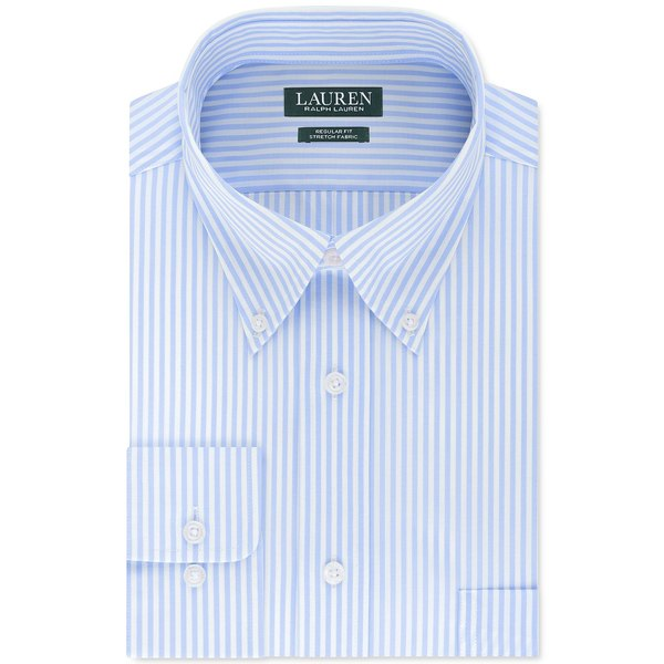 メンズ Ultraflex Stripe ラルフローレン Dress トップス シャツ Shirt Blue Men's Light Regular-Fit