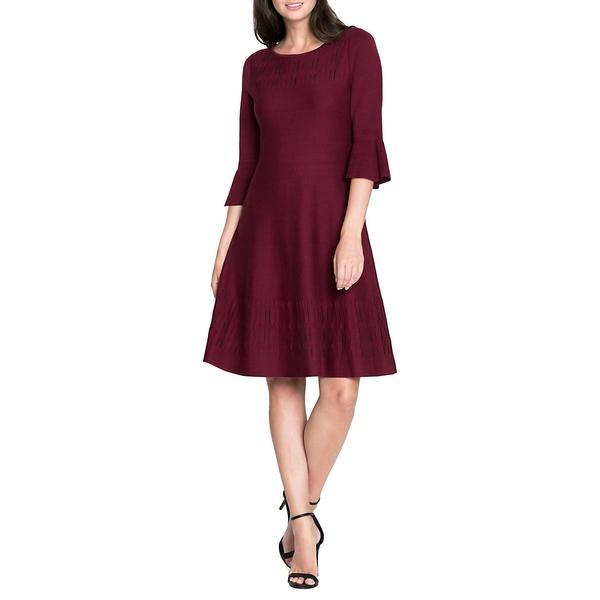 ニックプラスゾーイ レディース レディース ワンピース トップス Illusion Amaranth Illusion Twirl Fit-&-Flare Dress Amaranth, 楽天SHOWTIME:508f26d4 --- officewill.xsrv.jp