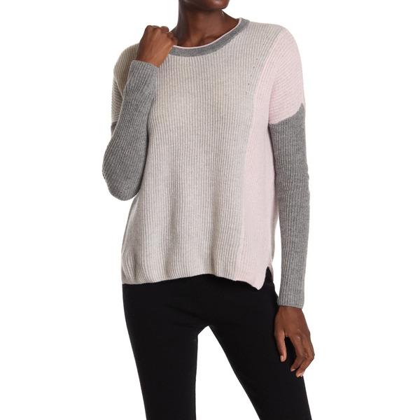 Colorblock Cashmere Crew PNK/MT レディース Sweater Neck アミケール アウター ニット&セーター