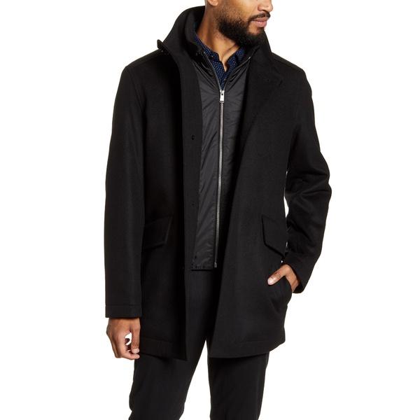 ボス & Coxtan ジャケット&ブルゾン Coat アウター Cashmere メンズ BLK Wool