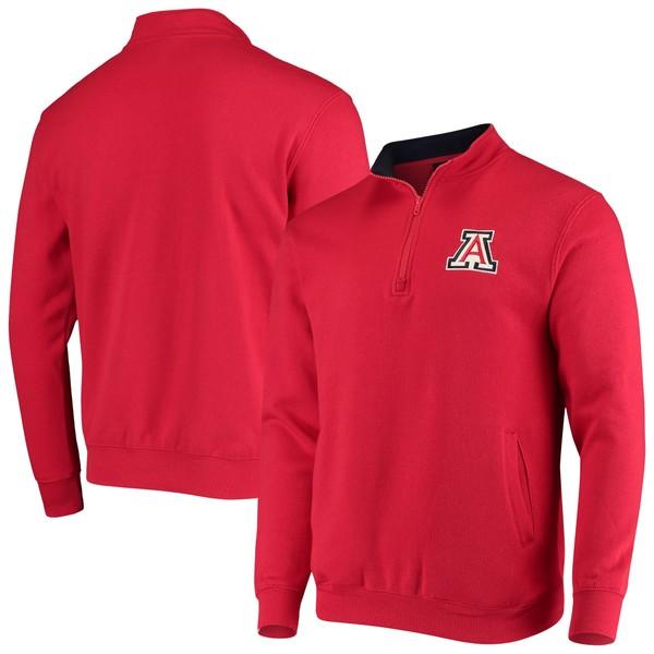 コロシアム メンズ ジャケット&ブルゾン アウター Arizona Wildcats Colosseum Tortugas Logo Quarter Zip Jacket Red