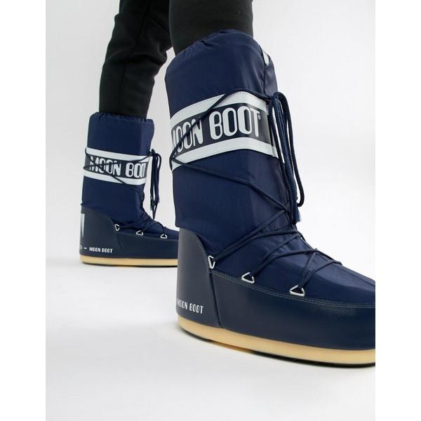 ムーンブーツ メンズ ブーツ&レインブーツ シューズ Moon Boot classic snow boots in navy Navy