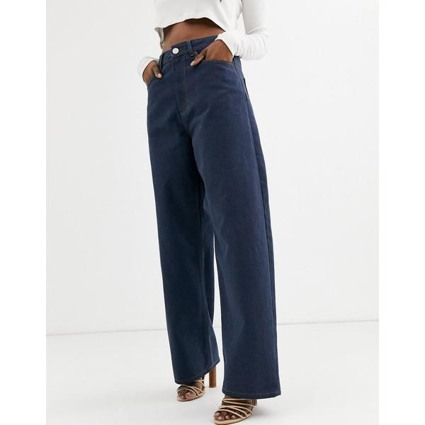 エイソス レディース デニムパンツ ボトムス ASOS DESIGN High rise 'relaxed' dad jeans in smokey blue wash Smokey blue wash