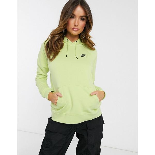 ナイキ レディース パーカー・スウェットシャツ アウター Nike Essentials Bright Yellow Hoodie Desert dusk