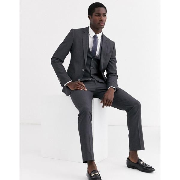 エイソス メンズ ジャケット&ブルゾン アウター ASOS DESIGN skinny suit jacket in charcoal Charcoal