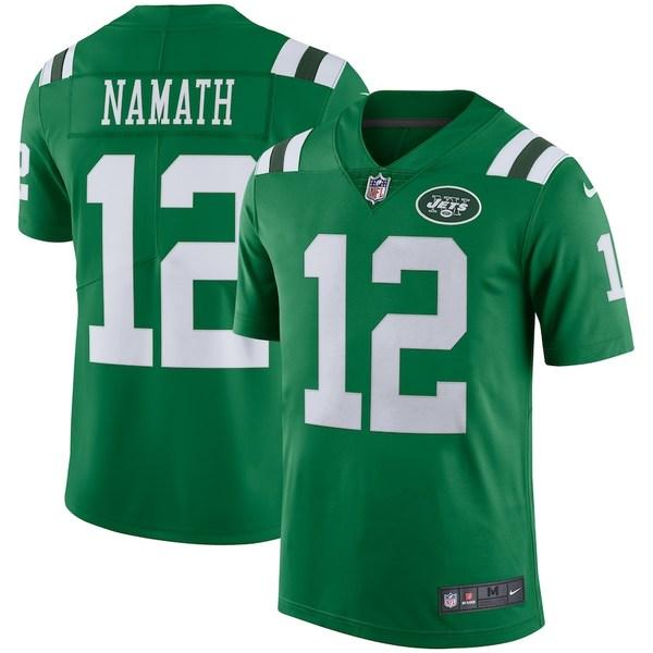 ナイキ メンズ シャツ トップス Joe Namath New York Jets Nike Color Rush Vapor Untouchable Retired Player Limited Jersey Green