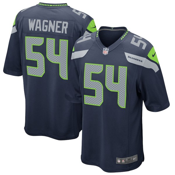 ナイキ メンズ シャツ トップス Bobby Wagner Seattle Seahawks Nike Game Jersey College Navy