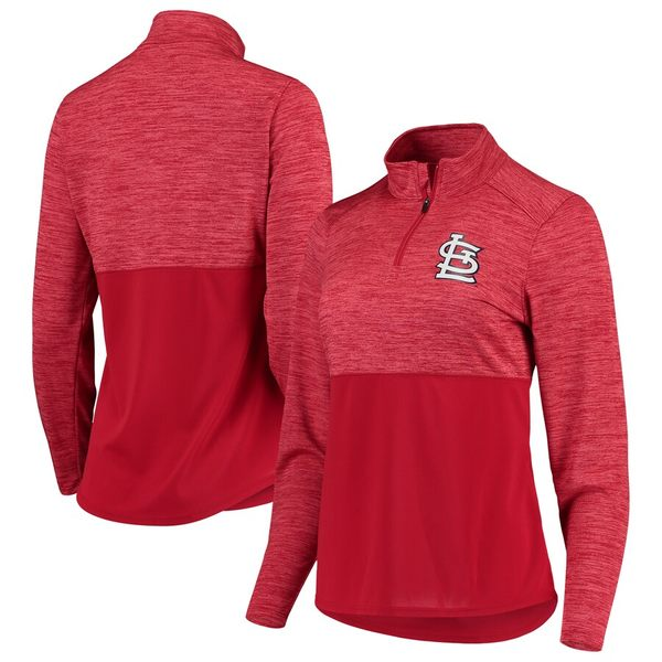ファナティクス レディース ジャケット&ブルゾン アウター St. Louis Cardinals Fanatics Branded Women's Quarter-Zip Pullover Jacket Red