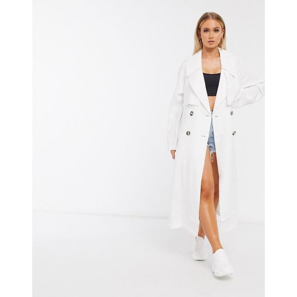エイソス レディース コート アウター ASOS DESIGN slouchy trench coat in white White