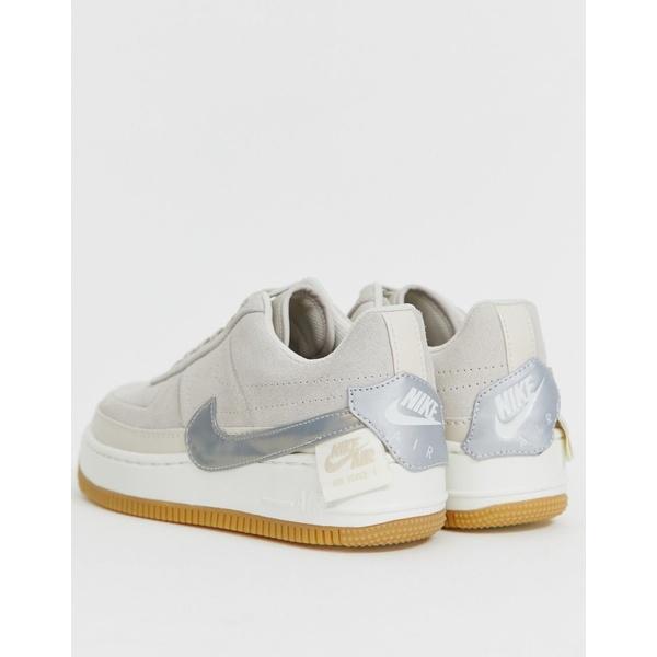 ナイキ レディース スニーカー シューズ Nike Sand Air Force 1 Jester Sneakers Desert sand/metallic