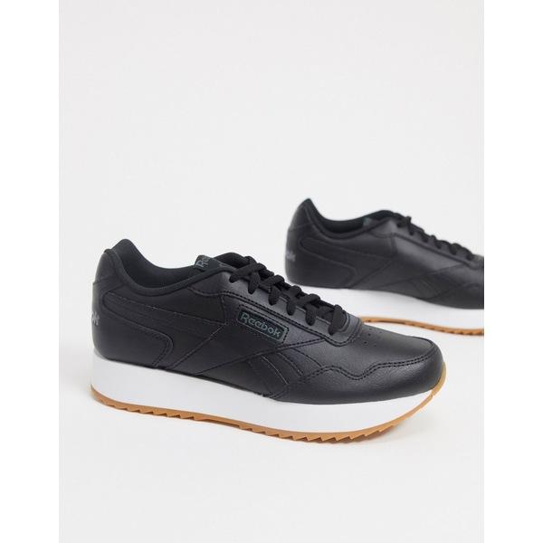 リーボック レディース スニーカー シューズ Reebok Classics Harman Run sneakers in black & true gray Black/truegrey/wht