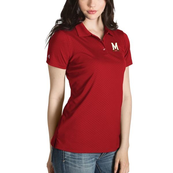 アンティグア レディース ポロシャツ トップス Maryland Terrapins Antigua Women's Desert Dry Inspire Polo Red