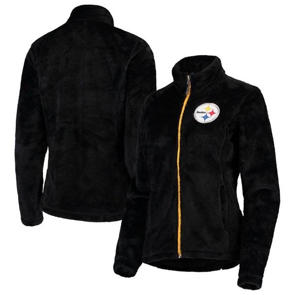 カールバンクス レディース ジャケット&ブルゾン アウター Pittsburgh Steelers G-III 4Her by Carl Banks Women's Goal Line Full-Zip Jacket Black