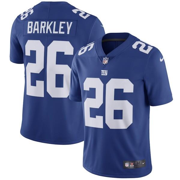 ナイキ メンズ シャツ トップス Saquon Barkley New York Giants Nike Team Color Vapor Untouchable Limited Jersey Royal