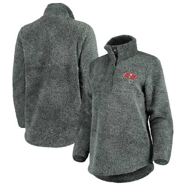 コンセプトスポーツ レディース ジャケット&ブルゾン アウター Tampa Bay Buccaneers Concepts Sport Women's Trifecta Snap-Up Jacket Charcoal